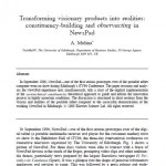 Transforming Visionary Products into Realities: Constituencies-Building and Observacting in the Case of NewsPad