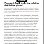 Piano post-Covid: leadership collettiva distribuita e giovani